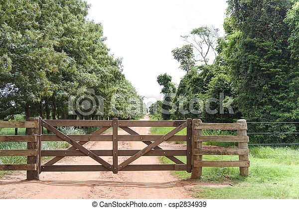 Rural Gate - csp2834939