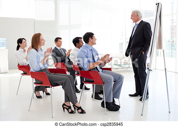 Businessman at a conference - csp2835945