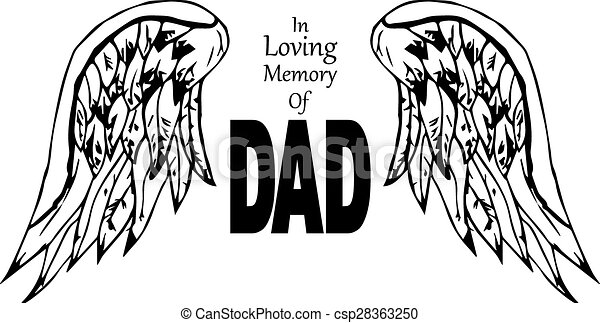 In loving memory of dad - csp28363250