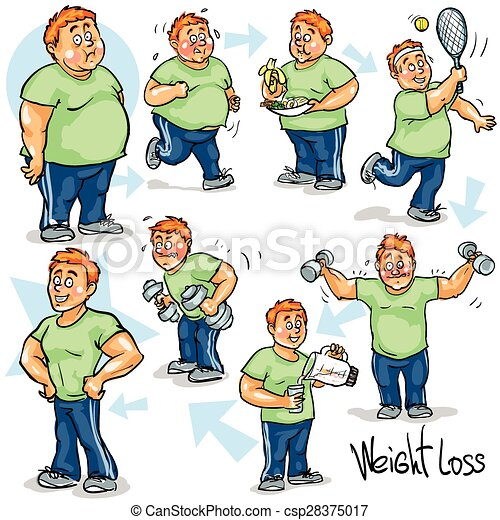 Man achieving his Weight-Loss goal. - csp28375017
