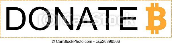 donate bitcoin button - csp28398566