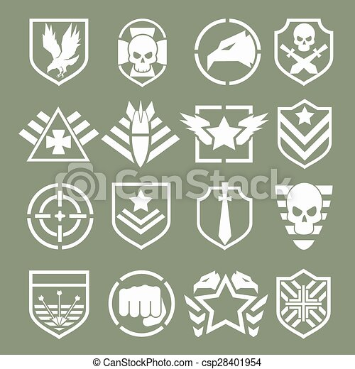 Clipart Vector of Military logos of special forces set. Army ...