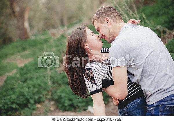 coppia, amare, natura - csp28407759
