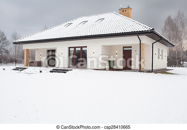 Detached modern house