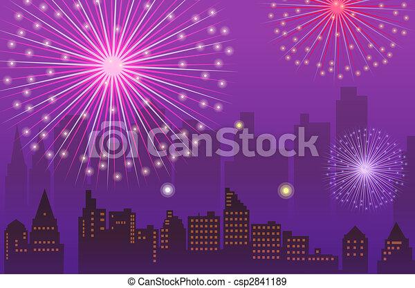 fireworks - csp2841189