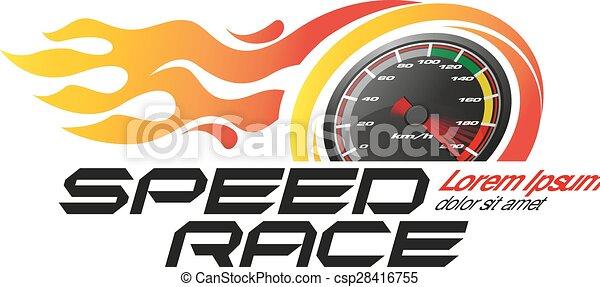 speed race logo or icon vector - csp28416755