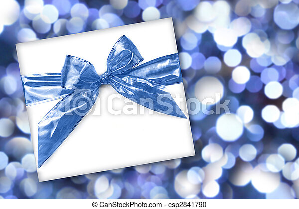 Holiday or Birthday Gift on Abstract Background - csp2841790