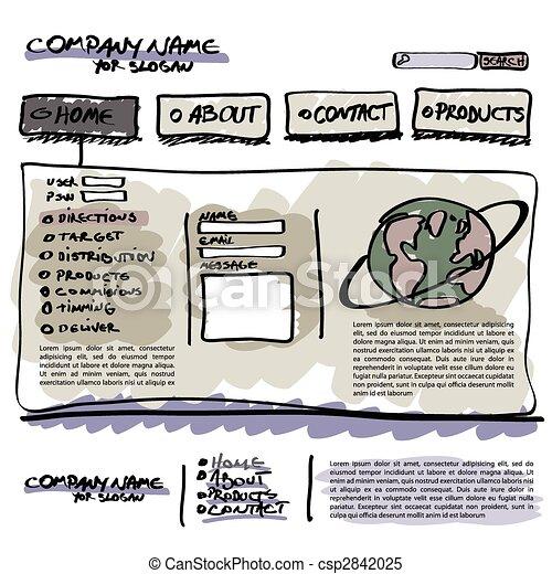 Vector editable website template - csp2842025