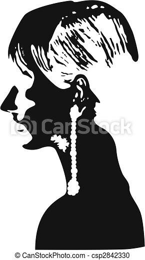 woman close up poster - csp2842330