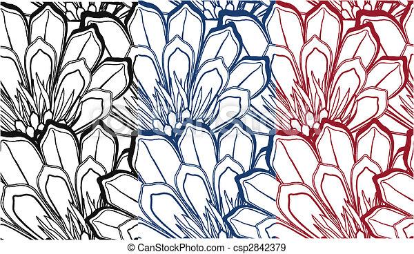 fancy seamless flower pattern - csp2842379