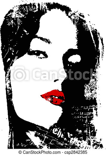 woman close up poster - csp2842385