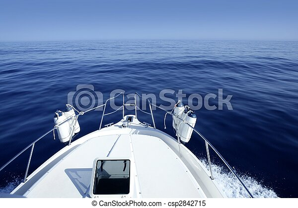 Boat on the blue Mediterranean Sea yachting - csp2842715