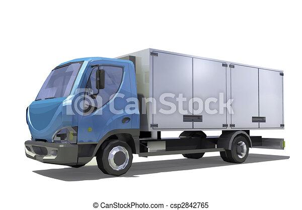 illustration camion pr t dessin transport cargaison isolement blanc fond render. Black Bedroom Furniture Sets. Home Design Ideas