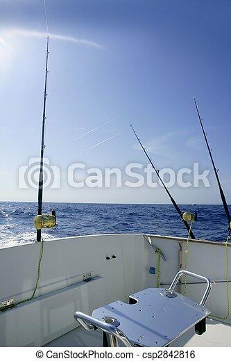 Angler boat big game fishing in saltwater - csp2842816