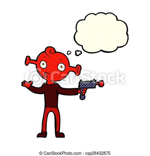 how to draw a cartoon ray gun