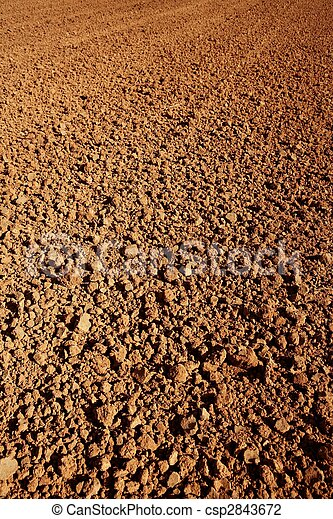 Clay red agriculture textured soil - csp2843672