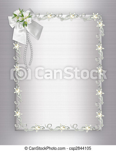 Wedding Invitation elegant border - csp2844105