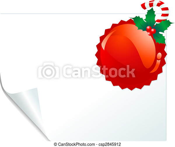 Red emblem page - csp2845912