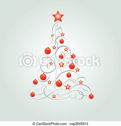 Decorated Christmas tree - csp2845913
