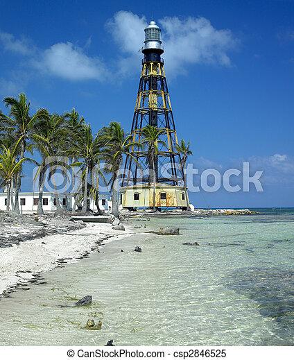 lighthouse, Cayo Jutias, Pinar del Rio Province, Cuba - csp2846525