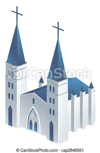 Clipart de glise dessin de beau glise dans a fond blanc csp2846561 recherchez des - Dessin eglise ...