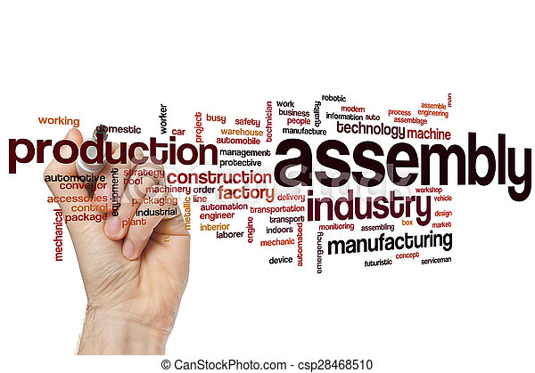 Assembly word cloud - csp28468510