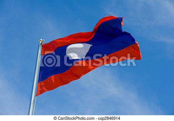 laotian flag - csp2846914