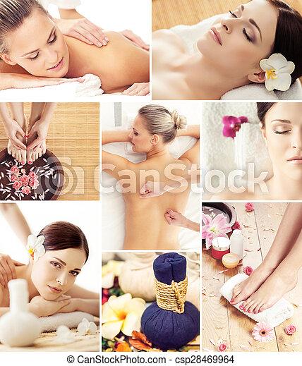 Traditional oriental rejuvenation treatments. Health care, massage, wellness, spa and Thai medicine concept. - csp28469964