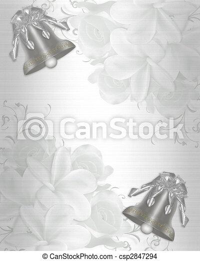 Wedding Invitation elegant satin - csp2847294