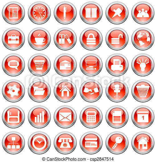 business and office icons set - csp2847514