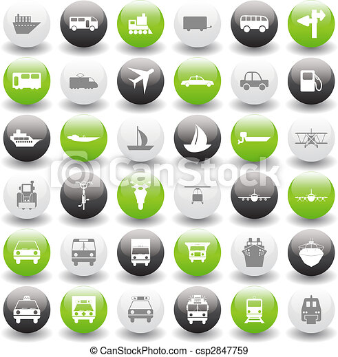 transportation icons set - csp2847759