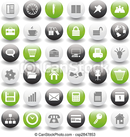 business and office icons set - csp2847853