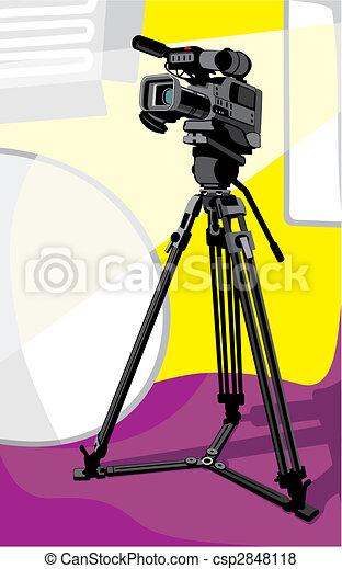 tv camera at studio - csp2848118
