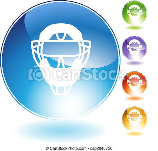 Umpire Mask Helmet Crystal Icon - csp2848720