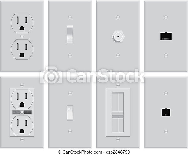 Wall Electrical Plates - csp2848790