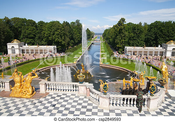 Fountains of Petergof - csp2849593