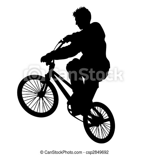Bicycle rider 5 vector - csp2849692