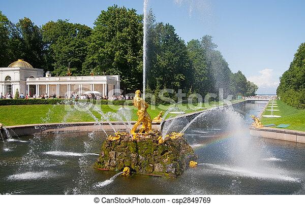 Fountains of Petergof - csp2849769