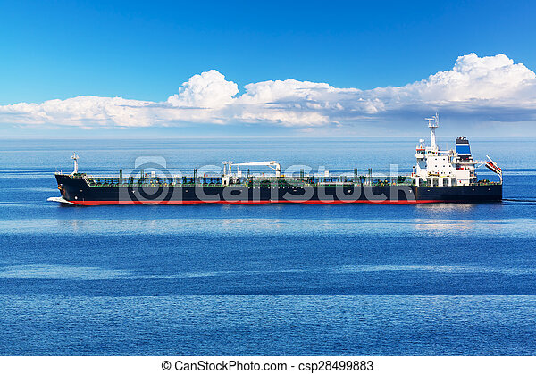 Industrial oil and chemical tanker ship - csp28499883