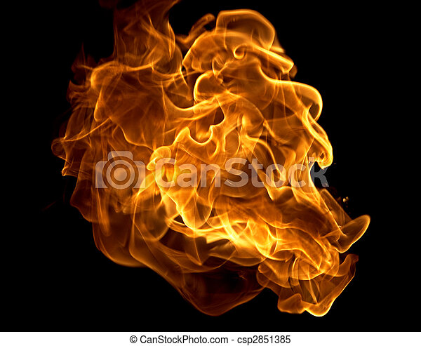 close up view photo of the fire  - csp2851385