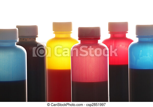 tinta, botellas - csp2851997