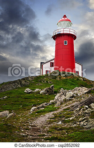 Lighthouse on hill - csp2852092