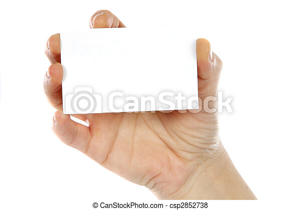 Hand whit a card - csp2852738