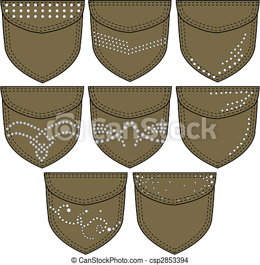 fancy lady back pockets - csp2853394