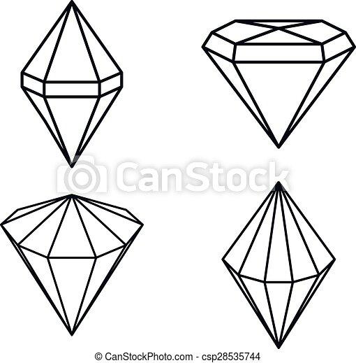 Eps vector de diamante piedra preciosa precioso - Dibujos de piedras ...
