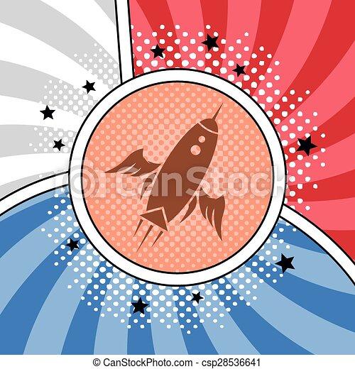 space shuttle rocket - csp28536641