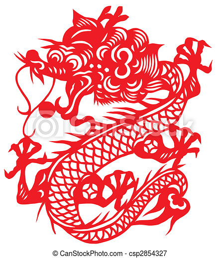 Illustrations de zodiaque dragon chinois chinese traditionnel paper cut csp2854327 - Photo dragon chinois ...