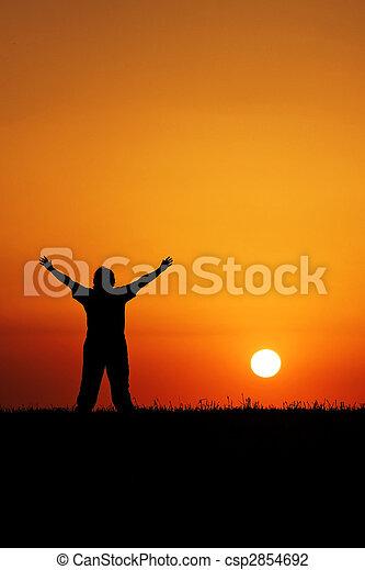 Sunset Worship - csp2854692