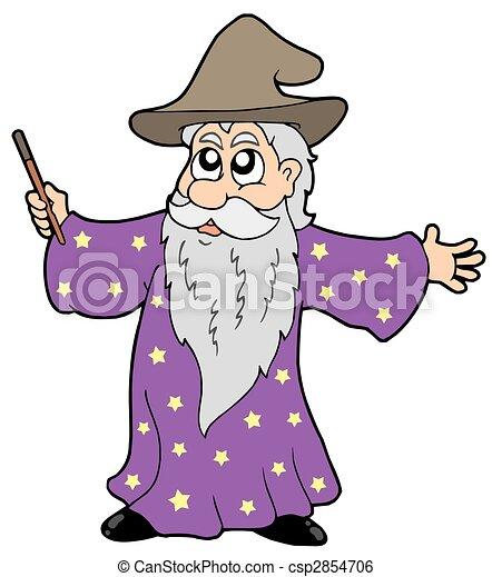 illustration magicien magie baguette