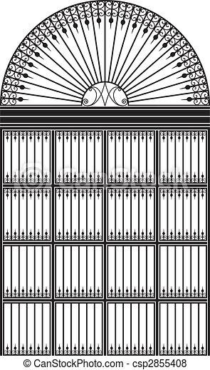 Wrought iron portal - csp2855408